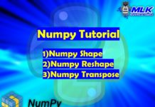 Numpy Shape, Numpy Reshape and Numpy Transpose in Python