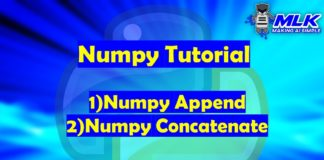 numpy.append() and numpy.concatenate() in Python