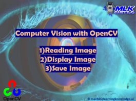 OpenCV Tutorial – Reading Displaying and Writing Image using imread() , imshow() and imwrite()