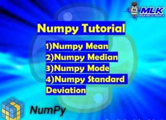 Numpy Mean, Numpy Median, Numpy Mode, Numpy Standard Deviation in Python