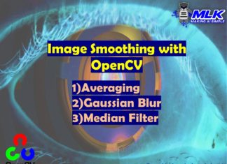 Image Smoothing with Averaging, Gaussian Blur and Median Filter