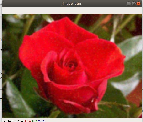 Result of Image Averaging with cv2.blur()