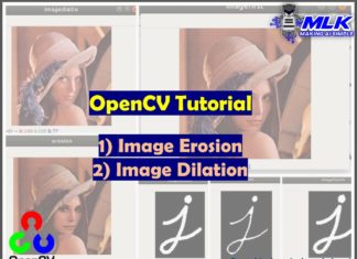 OpenCV Tutorial - Image Erosion and Dilation