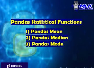 Pandas Statistical Functions Part-1 - mean(), median(), and mode()