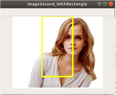 Example-2 of cv2.rectangle()