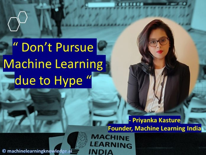 Machine Learning India - Priyanka Kasture