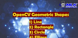 OpenCV Geometric Shapes Tutorial - Line, Rectangle, Circle, Ellipse, Polygon and Text