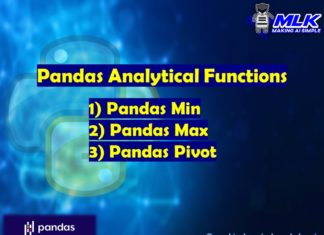 Pandas Analytical Functions – min(), max(), and pivot table()