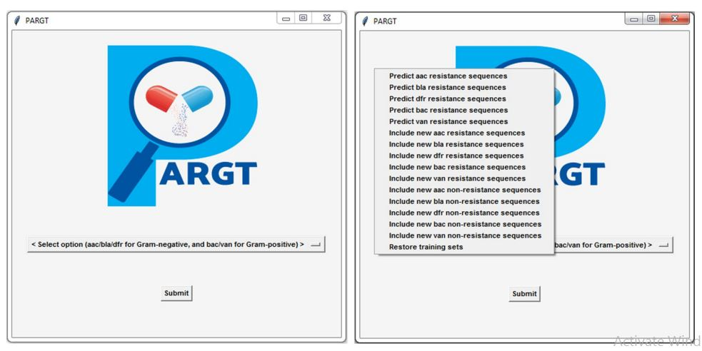 Antimicrobial drug ressistant bacteria software PARGT