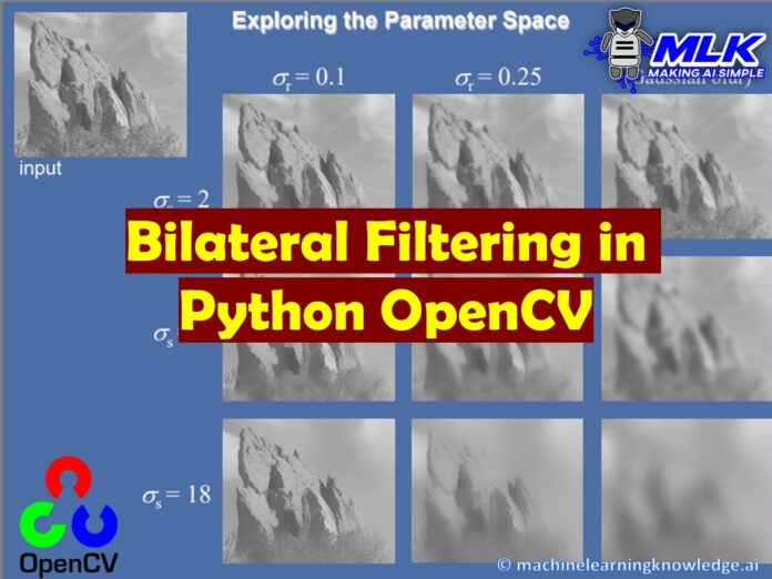 Bilateral Filtering in Python OpenCV with cv2.bilateralFilter()