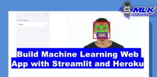 Build a Machine Learning Web App with Streamlit and Python and Heroku Deployment