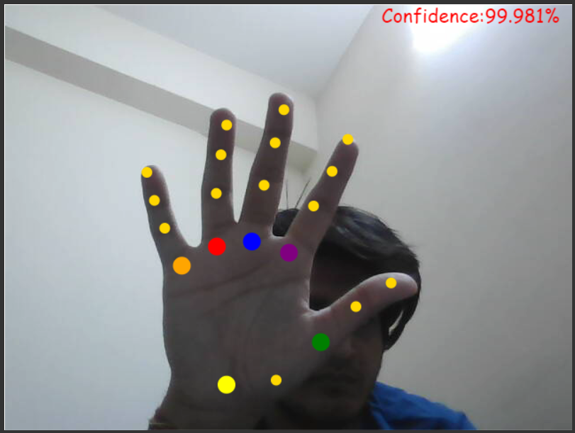 Tensorflow.js Hand Gesture Recognition and Tracking