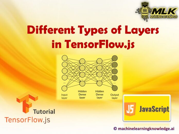Different Types of Layers in Tensorflow.js