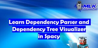 Learn Dependency Parser and Dependency Tree Visualizer in Spacy
