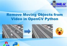 Remove Moving Objects from Video in OpenCV Python