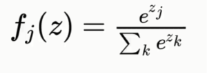 Softmax Activation Function Formula
