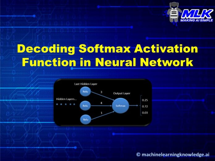 Decoding Softmax Activation Function for Neural Network with Examples