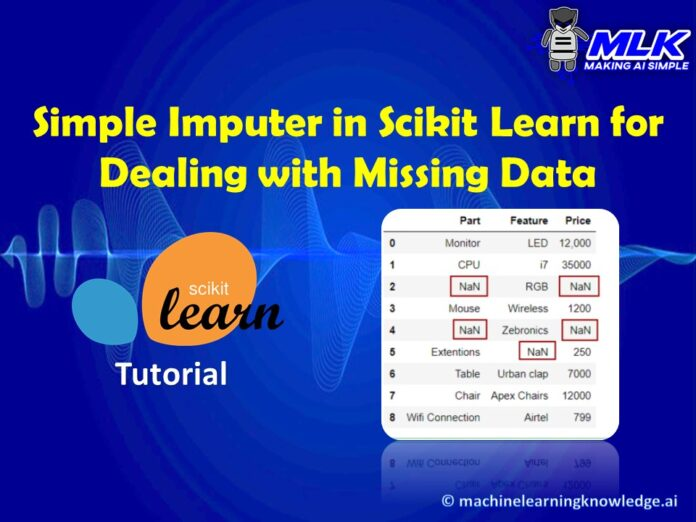 How To Use Sklearn Simple Imputer (SimpleImputer) for Filling Missing Values in Dataset