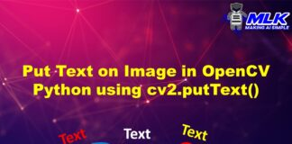 Put Text on Image in OpenCV Python using cv2.putText() with Examples