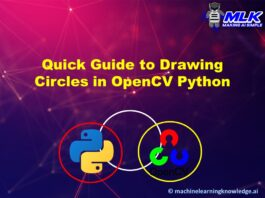 Quick Guide for Drawing Circle in OpenCV Python using cv2.circle() with Examples